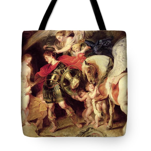 Perseus Liberating Andromeda Tote Bag by Peter Paul Rubens