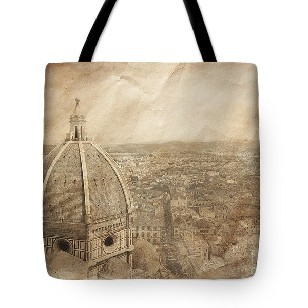 Piazza Del Duomo With Basilica Of Saint Tote Bag
