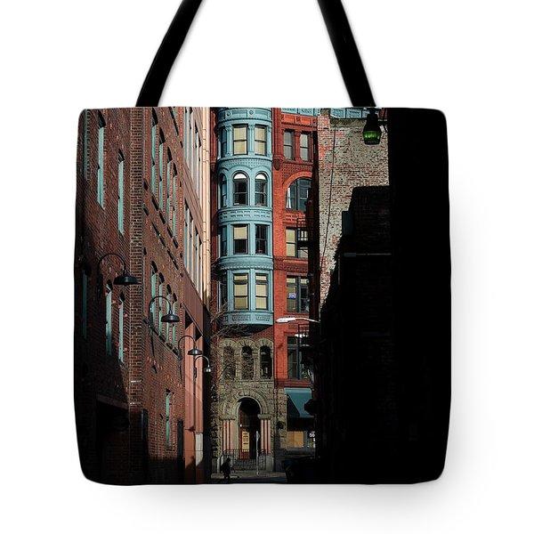 Pioneer Square Alleyway Tote Bag by David Patterson