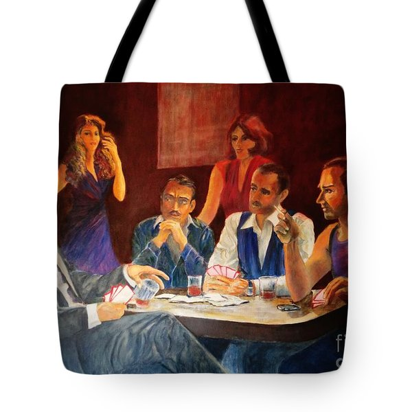 Pokertable Tote Bag