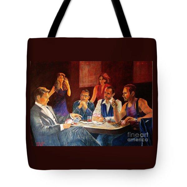 Pokertable Tote Bag by Dagmar Helbig