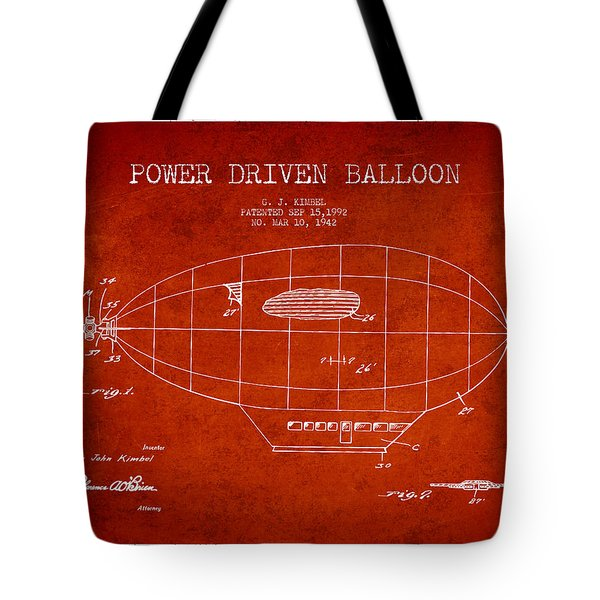 Power Driven Balloon Patent Tote Bag