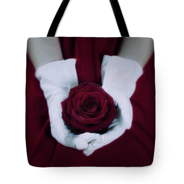 Red Rose Tote Bag by Joana Kruse