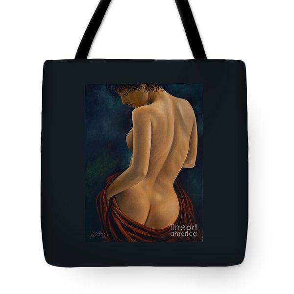 Red Silk Tote Bag by Ricardo Chavez-Mendez