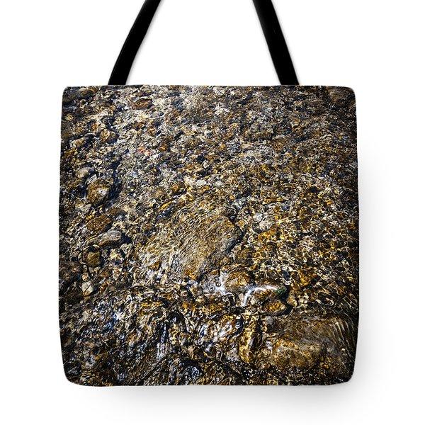 Rocks In Water Tote Bag