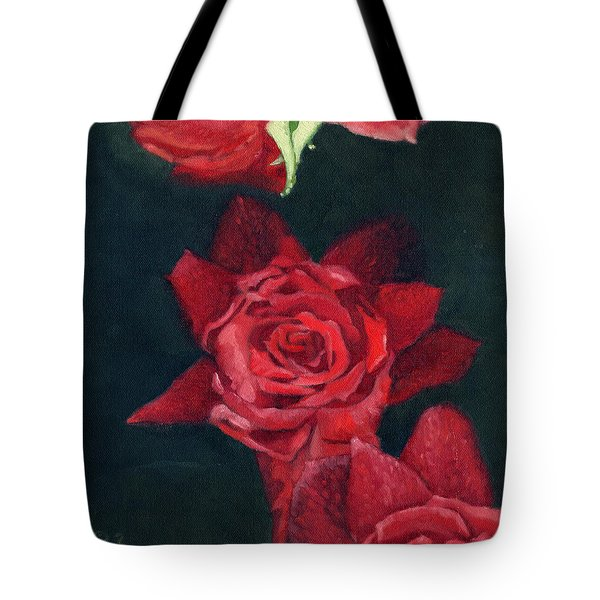 3 Roses Red Tote Bag