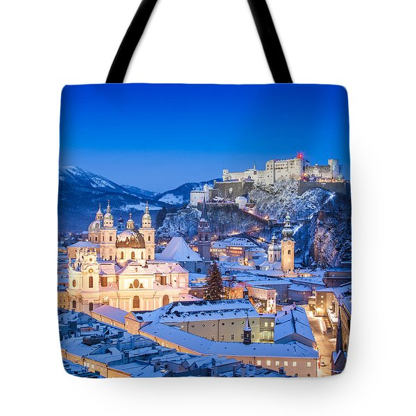 Salzburg In Winter Tote Bag