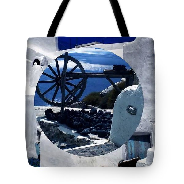Santorini Island Greece Tote Bag