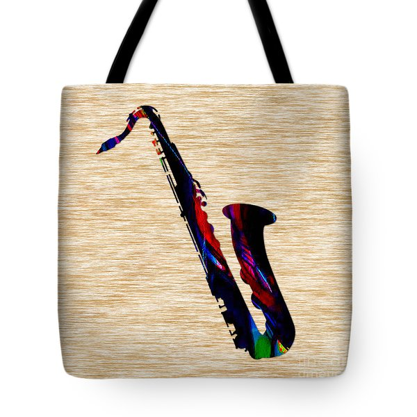Sax Tote Bag by Marvin Blaine