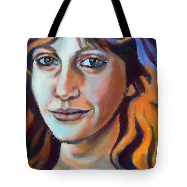 Tote Bag featuring the painting Self Portrait  by Helena Wierzbicki