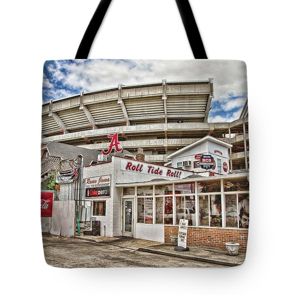 In The Shadow Of The Stadium - Hdr Tote Bag