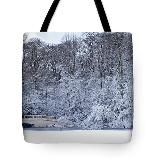 Snow Covered Trees In A Park, Hampstead Tote Bag
