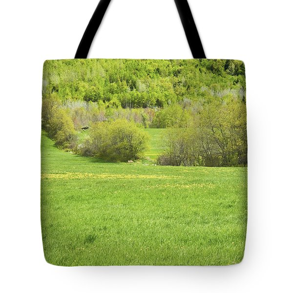 Spring Farm Landscape In Maine Tote Bag by Keith Webber Jr