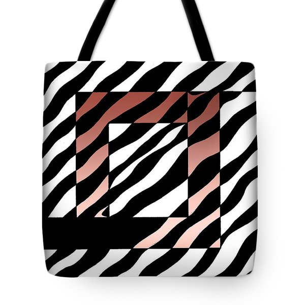 Tote Bag featuring the drawing 3 Squares With Ripples by Joseph J Stevens
