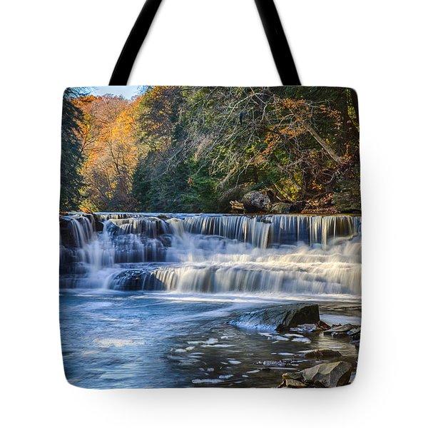 Squaw Rock - Chagrin River Falls Tote Bag