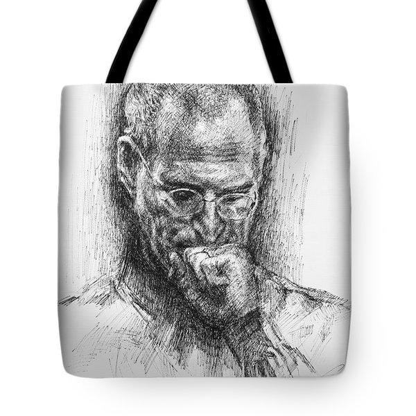 Steve Jobs Tote Bag by Ylli Haruni