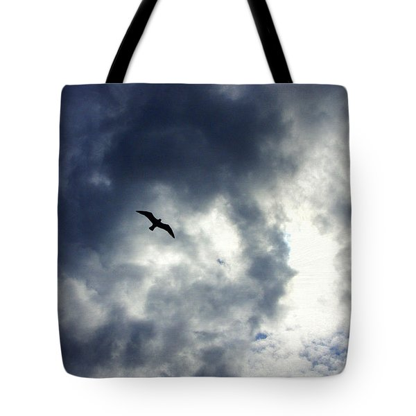 Tote Bag featuring the photograph Storm Flyer by Marilyn Wilson