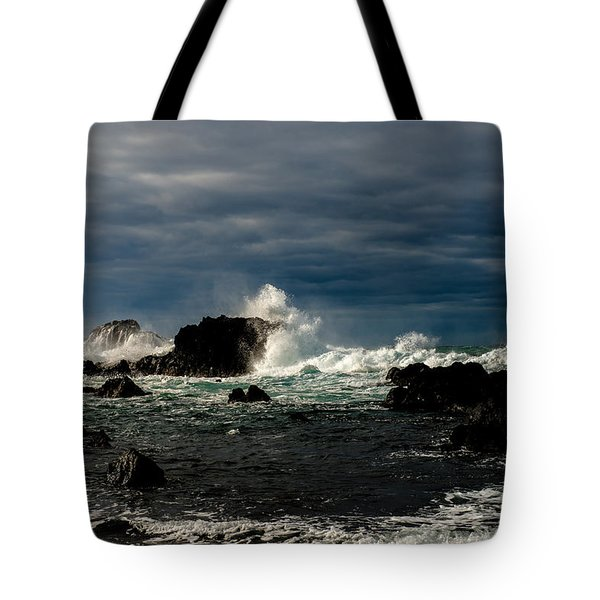 Stormy Seas And Skies  Tote Bag