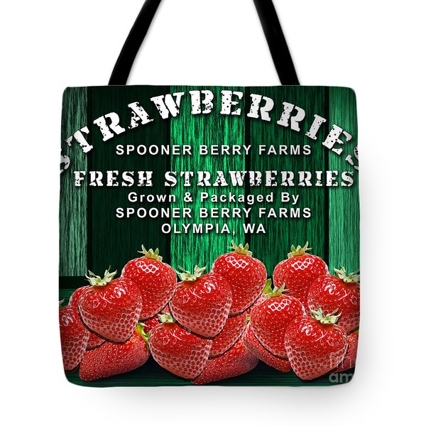 Strawberry Farm Tote Bag