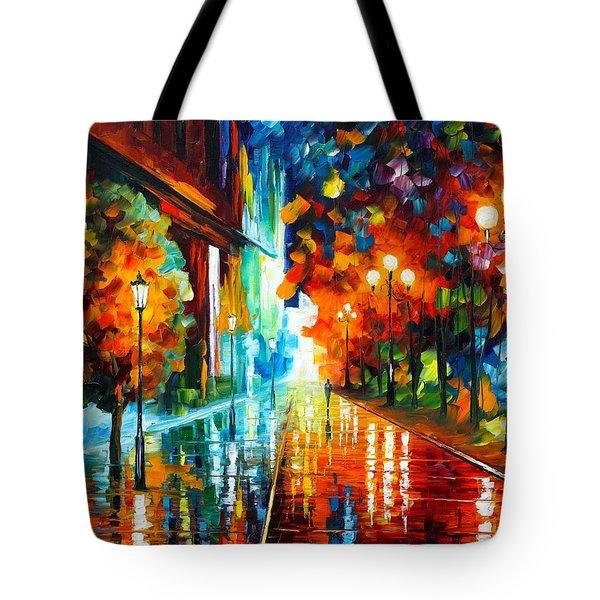 Street Of Hope Tote Bag by Leonid Afremov