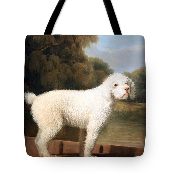 Stubbs' White Poodle In A Punt Tote Bag by Cora Wandel