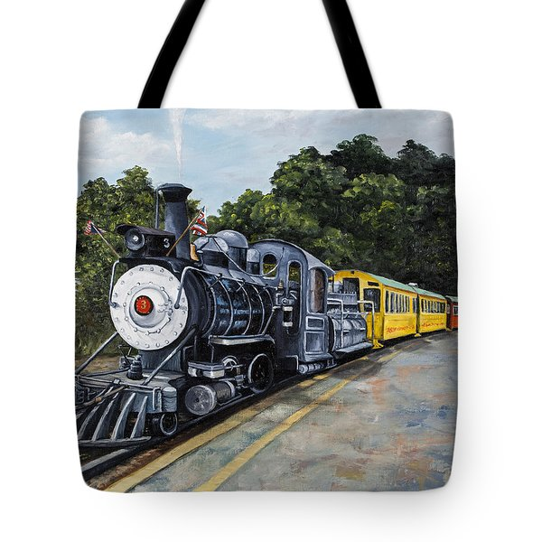 Sugar Cane Train Tote Bag