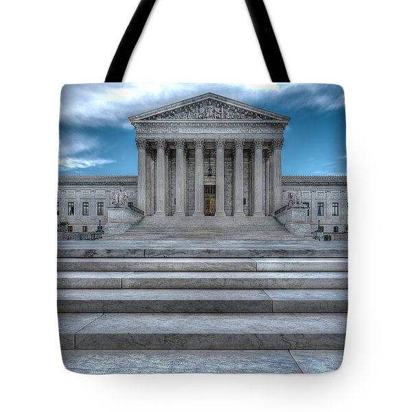 Tote Bag featuring the photograph Supreme Court by Peter Lakomy
