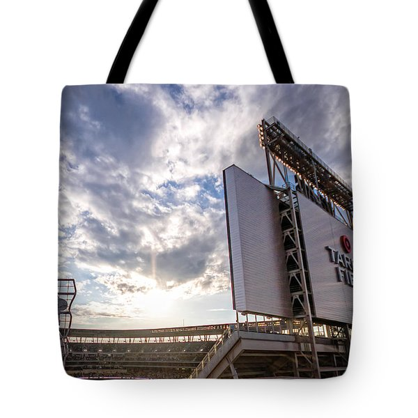 Target Field Sunset Tote Bag