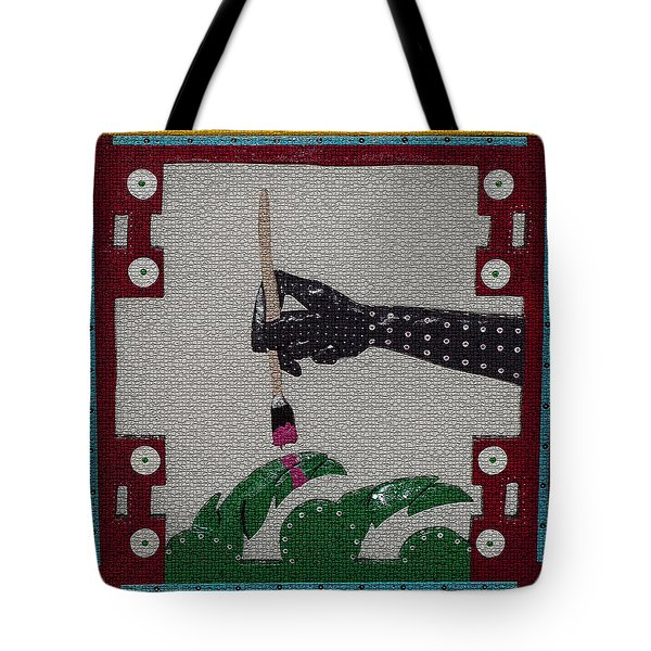 Tote Bag featuring the sculpture The Helping Hand by Robert Margetts