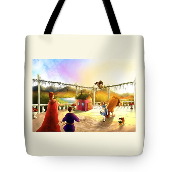 The Palace Balcony Tote Bag