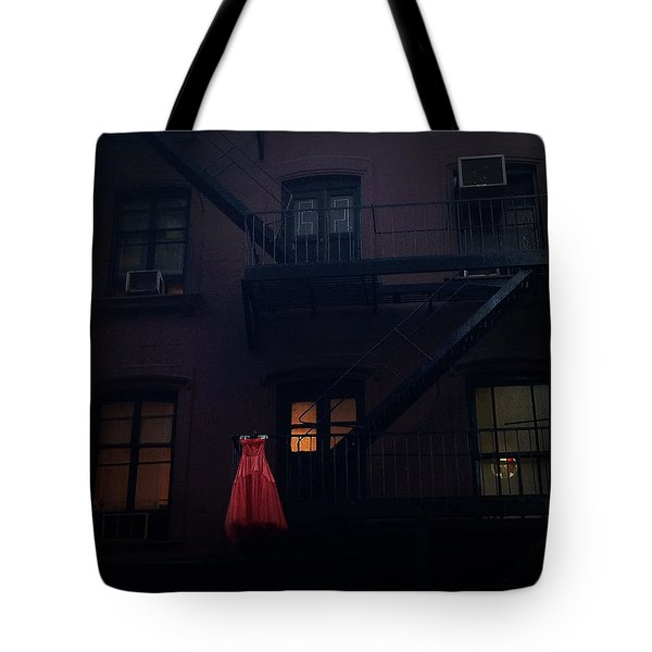 The Red Gown Tote Bag