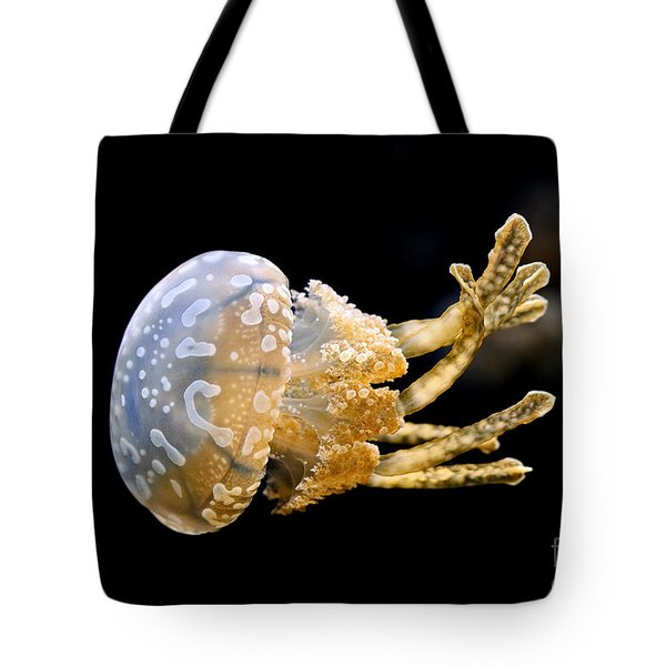The Spotted Jelly Or Lagoon Jelly Mastigias Papua Tote Bag by Jamie Pham