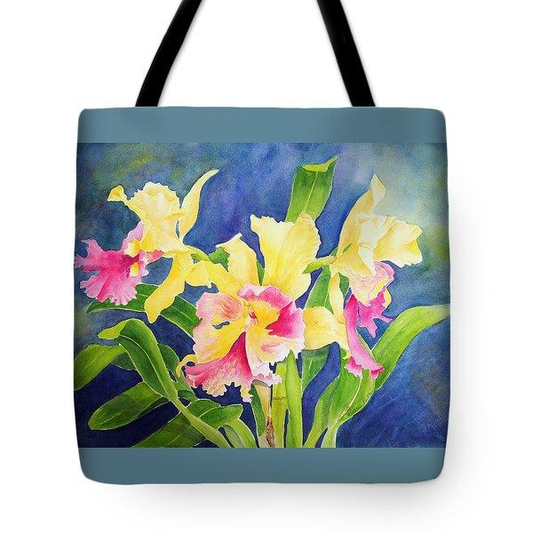 Three Cattleya's Tote Bag by Kathleen Rutten