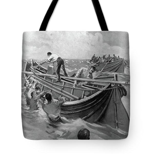 Titanic Lifeboats, 1912 Tote Bag