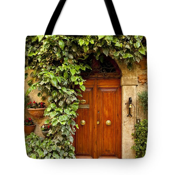 Tuscan Door Tote Bag by Brian Jannsen