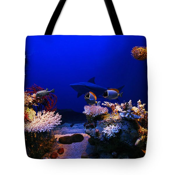Underwater Scene Tote Bag by Michal Bednarek