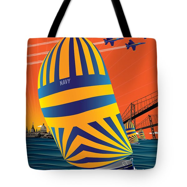 Usna Sunset Sail Tote Bag
