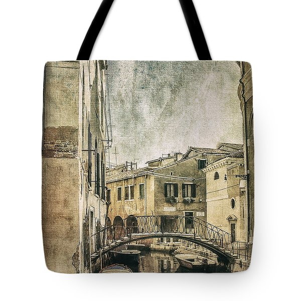 Venice Back In Time Tote Bag by Julie Palencia