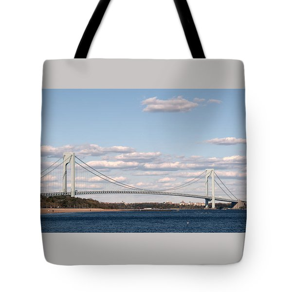 Verrazano Narrows Bridge Tote Bag