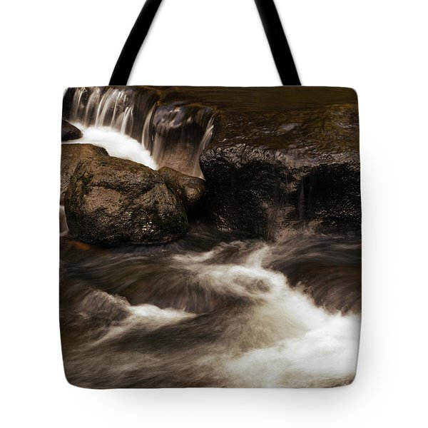 Water Flowing Tote Bag by Les Cunliffe