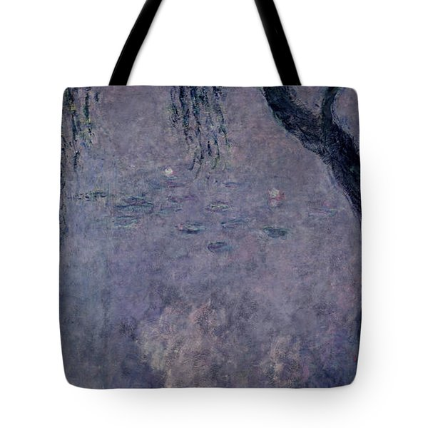 Waterlilies Two Weeping Willows Tote Bag