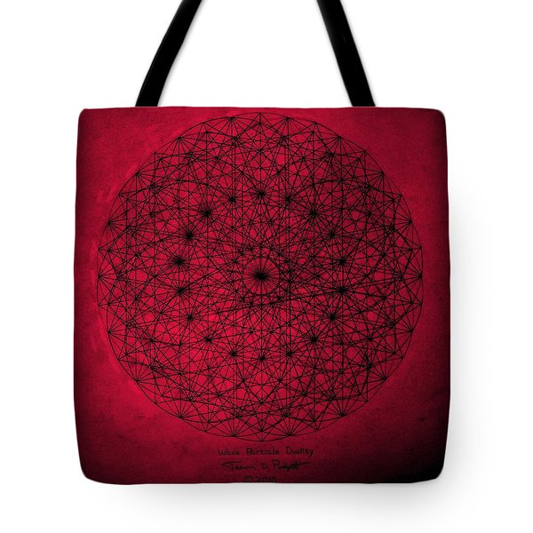 Tote Bag featuring the drawing Wave Particle Duality by Jason Padgett