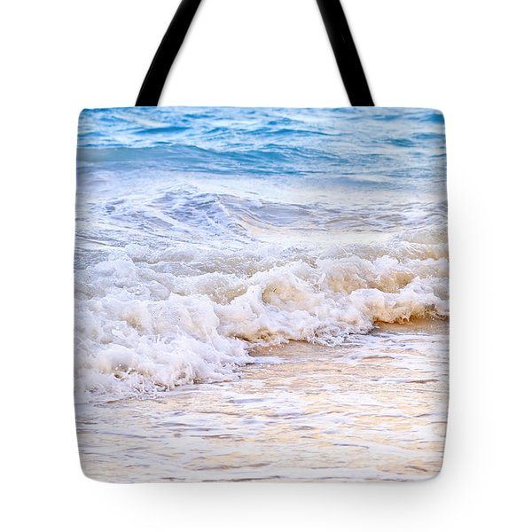 Waves Breaking On Tropical Shore Tote Bag