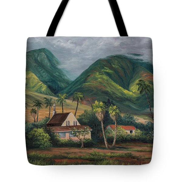 Tote Bag featuring the painting West Maui Mountains by Darice Machel McGuire