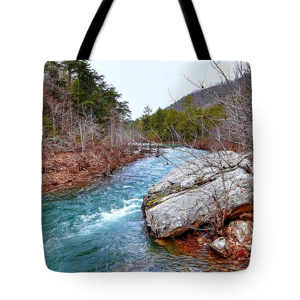 Tote Bag featuring the photograph White's Creek by Paul Mashburn