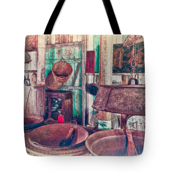 Tote Bag featuring the photograph 3-wok Kitchen by Jim Thompson