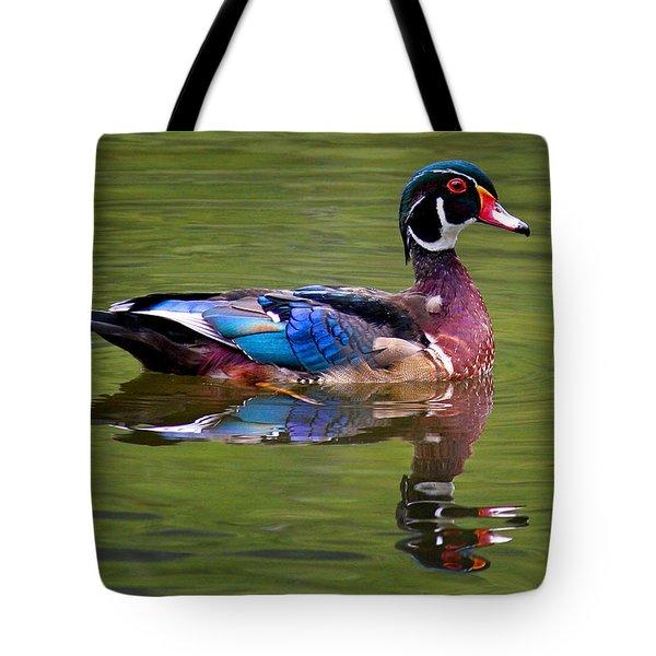 Wood Duck Tote Bag by Jean Noren