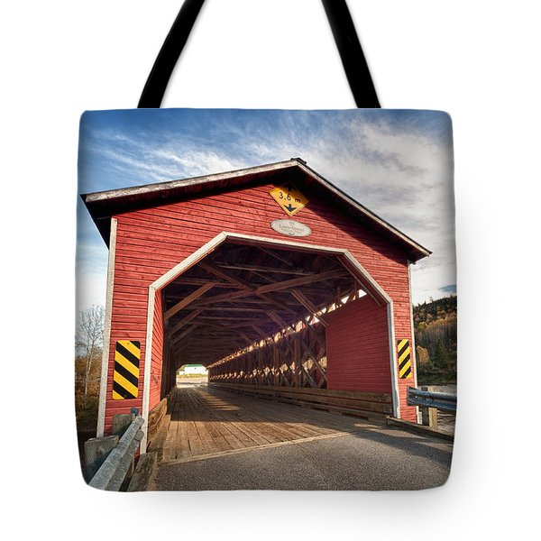 Wooden Covered Bridge  Tote Bag by Ulrich Schade
