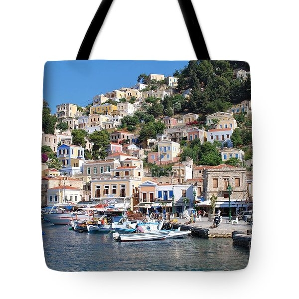 Yialos Harbour Symi Tote Bag