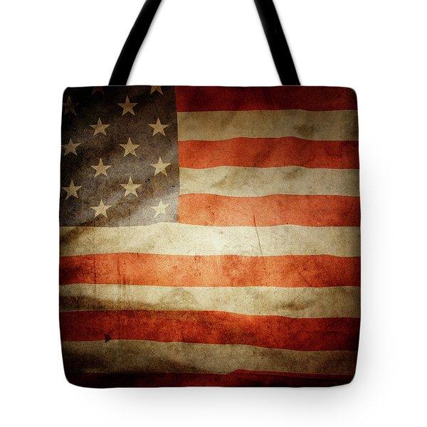 American Flag Rippled Tote Bag